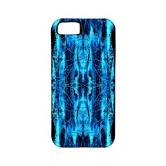 Bright Blue Turquoise  Black Pattern Apple Iphone 5 Classic Hardshell Case (pc+silicone) by Costasonlineshop
