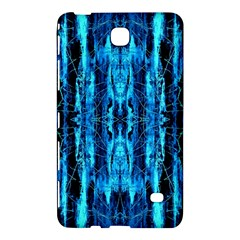 Bright Blue Turquoise  Black Pattern Samsung Galaxy Tab 4 (8 ) Hardshell Case  by Costasonlineshop
