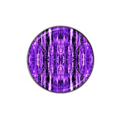 Bright Purple Rose Black Pattern Hat Clip Ball Marker (4 Pack) by Costasonlineshop