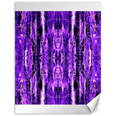 Bright Purple Rose Black Pattern Canvas 12  X 16   by Costasonlineshop