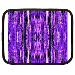 Bright Purple Rose Black Pattern Netbook Case (xxl)  by Costasonlineshop