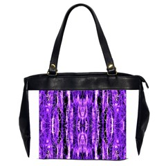 Bright Purple Rose Black Pattern Office Handbags (2 Sides)  by Costasonlineshop