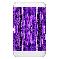 Bright Purple Rose Black Pattern Samsung Galaxy Tab 3 (8 ) T3100 Hardshell Case  by Costasonlineshop