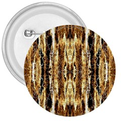 Beige Brown Back Wood Design 3  Buttons by Costasonlineshop