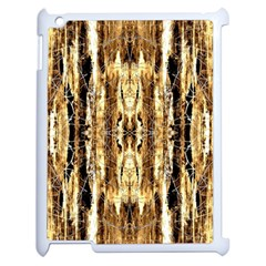 Beige Brown Back Wood Design Apple Ipad 2 Case (white) by Costasonlineshop