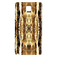 Beige Brown Back Wood Design Galaxy Note 4 Back Case by Costasonlineshop