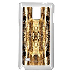 Beige Brown Back Wood Design Samsung Galaxy Note 4 Case (white) by Costasonlineshop