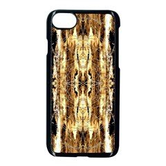 Beige Brown Back Wood Design Apple Iphone 7 Seamless Case (black) by Costasonlineshop