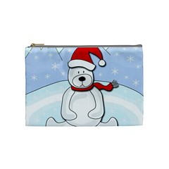 Polar Bear Cosmetic Bag (medium)  by Valentinaart