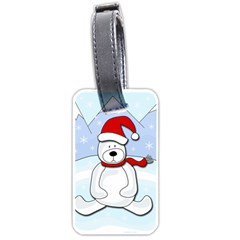 Polar Bear Luggage Tags (one Side)  by Valentinaart
