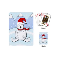 Polar Bear Playing Cards (mini)  by Valentinaart