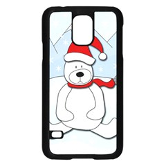 Polar Bear Samsung Galaxy S5 Case (black) by Valentinaart