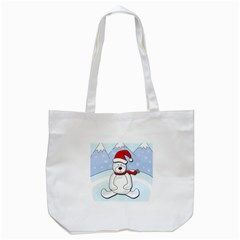 Polar Bear Tote Bag (white) by Valentinaart