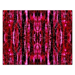 Pink Burgundy Traditional Pattern Rectangular Jigsaw Puzzl by Costasonlineshop