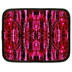 Pink Burgundy Traditional Pattern Netbook Case (xxl)  by Costasonlineshop