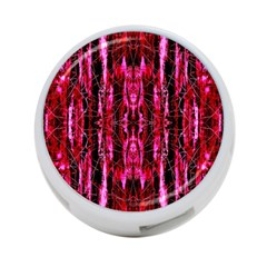 Pink Burgundy Traditional Pattern 4 Port Usb Hub (two Sides)