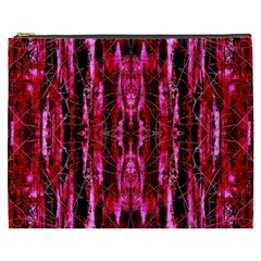 Pink Burgundy Traditional Pattern Cosmetic Bag (xxxl)  by Costasonlineshop
