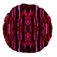 Pink Burgundy Traditional Pattern Large 18  Premium Round Cushions