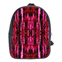 Pink Burgundy Traditional Pattern School Bags (xl)