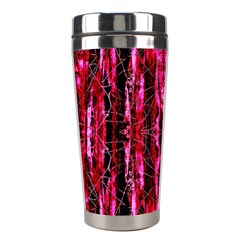 Pink Burgundy Traditional Pattern Stainless Steel Travel Tumblers