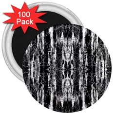 Black White Taditional Pattern  3  Magnets (100 Pack) by Costasonlineshop