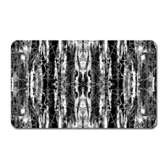 Black White Taditional Pattern  Magnet (rectangular) by Costasonlineshop