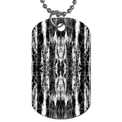 Black White Taditional Pattern  Dog Tag (two Sides) by Costasonlineshop