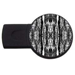 Black White Taditional Pattern  Usb Flash Drive Round (2 Gb)  by Costasonlineshop