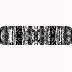 Black White Taditional Pattern  Large Bar Mats