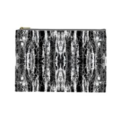 Black White Taditional Pattern  Cosmetic Bag (large)  by Costasonlineshop
