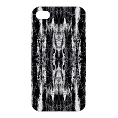 Black White Taditional Pattern  Apple Iphone 4/4s Hardshell Case by Costasonlineshop