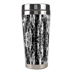 Black White Taditional Pattern  Stainless Steel Travel Tumblers