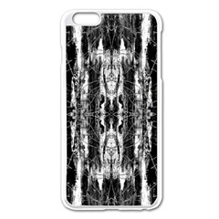 Black White Taditional Pattern  Apple Iphone 6 Plus/6s Plus Enamel White Case by Costasonlineshop
