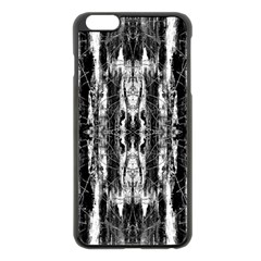 Black White Taditional Pattern  Apple Iphone 6 Plus/6s Plus Black Enamel Case by Costasonlineshop