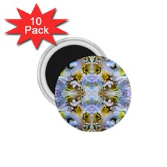 Blue Yellow Flower Girly Pattern, 1 75  Magnets (10 Pack)  by Costasonlineshop