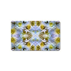 Blue Yellow Flower Girly Pattern, Magnet (name Card)