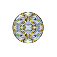 Blue Yellow Flower Girly Pattern, Hat Clip Ball Marker (4 Pack) by Costasonlineshop