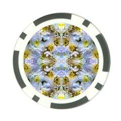 Blue Yellow Flower Girly Pattern, Poker Chip Card Guards