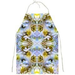 Blue Yellow Flower Girly Pattern, Full Print Aprons by Costasonlineshop