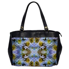 Blue Yellow Flower Girly Pattern, Office Handbags