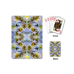 Blue Yellow Flower Girly Pattern, Playing Cards (mini)