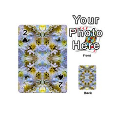 Blue Yellow Flower Girly Pattern, Playing Cards 54 (mini)