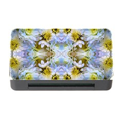 Blue Yellow Flower Girly Pattern, Memory Card Reader With Cf