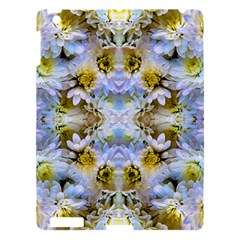 Blue Yellow Flower Girly Pattern, Apple Ipad 3/4 Hardshell Case by Costasonlineshop