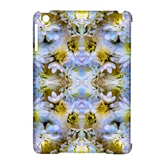 Blue Yellow Flower Girly Pattern, Apple Ipad Mini Hardshell Case (compatible With Smart Cover)