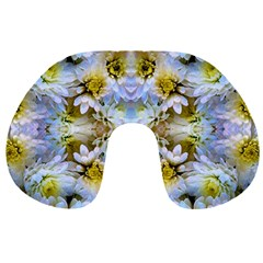 Blue Yellow Flower Girly Pattern, Travel Neck Pillows by Costasonlineshop