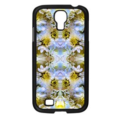 Blue Yellow Flower Girly Pattern, Samsung Galaxy S4 I9500/ I9505 Case (black)