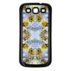 Blue Yellow Flower Girly Pattern, Samsung Galaxy S3 Back Case (black) by Costasonlineshop