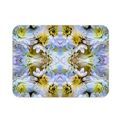 Blue Yellow Flower Girly Pattern, Double Sided Flano Blanket (mini)  by Costasonlineshop