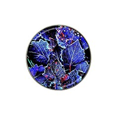 Blue Leaves In Morning Dew Hat Clip Ball Marker